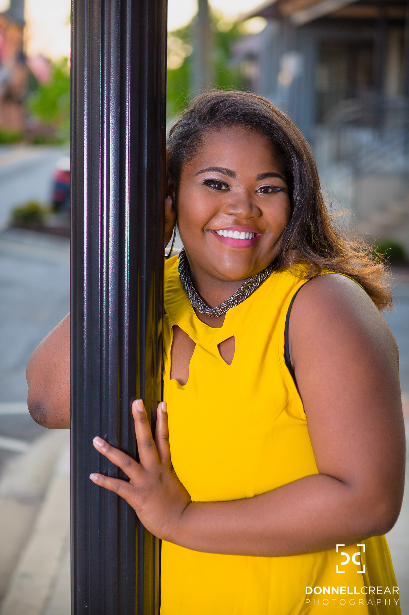 Downtown Greenville Senior Portraits | Nya Waters