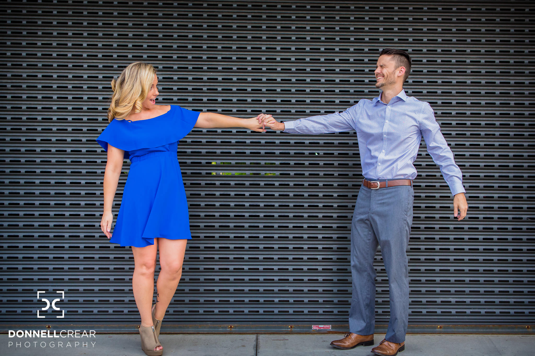 Downtown Spartanburg Engagement Session | Allison + David