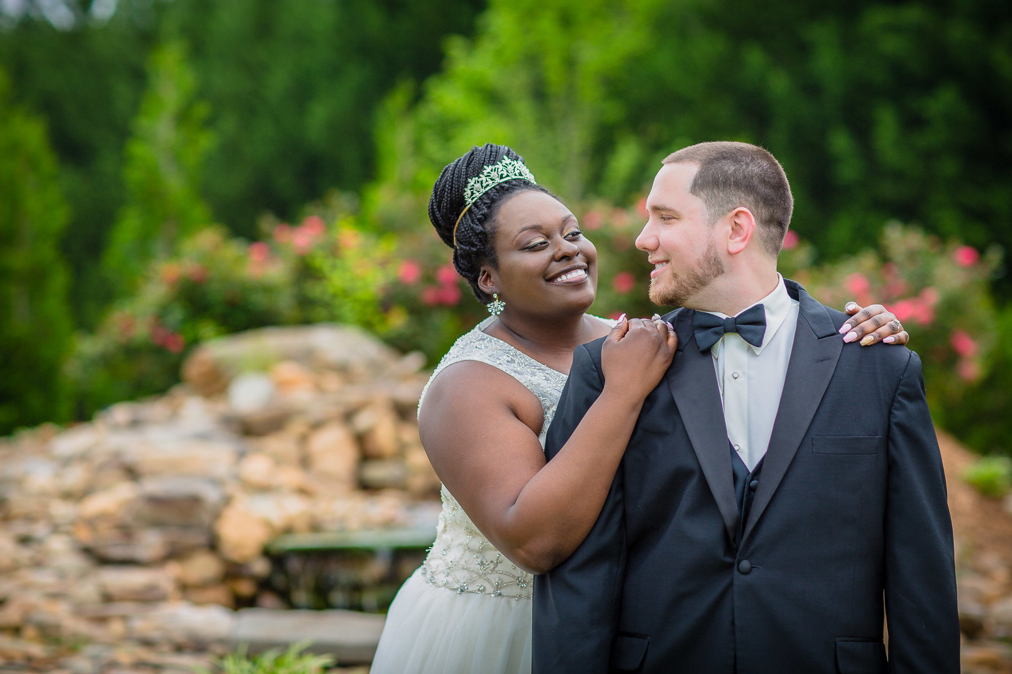 One of the best wedding photographers in Greenville SC portrait of a bride and groom