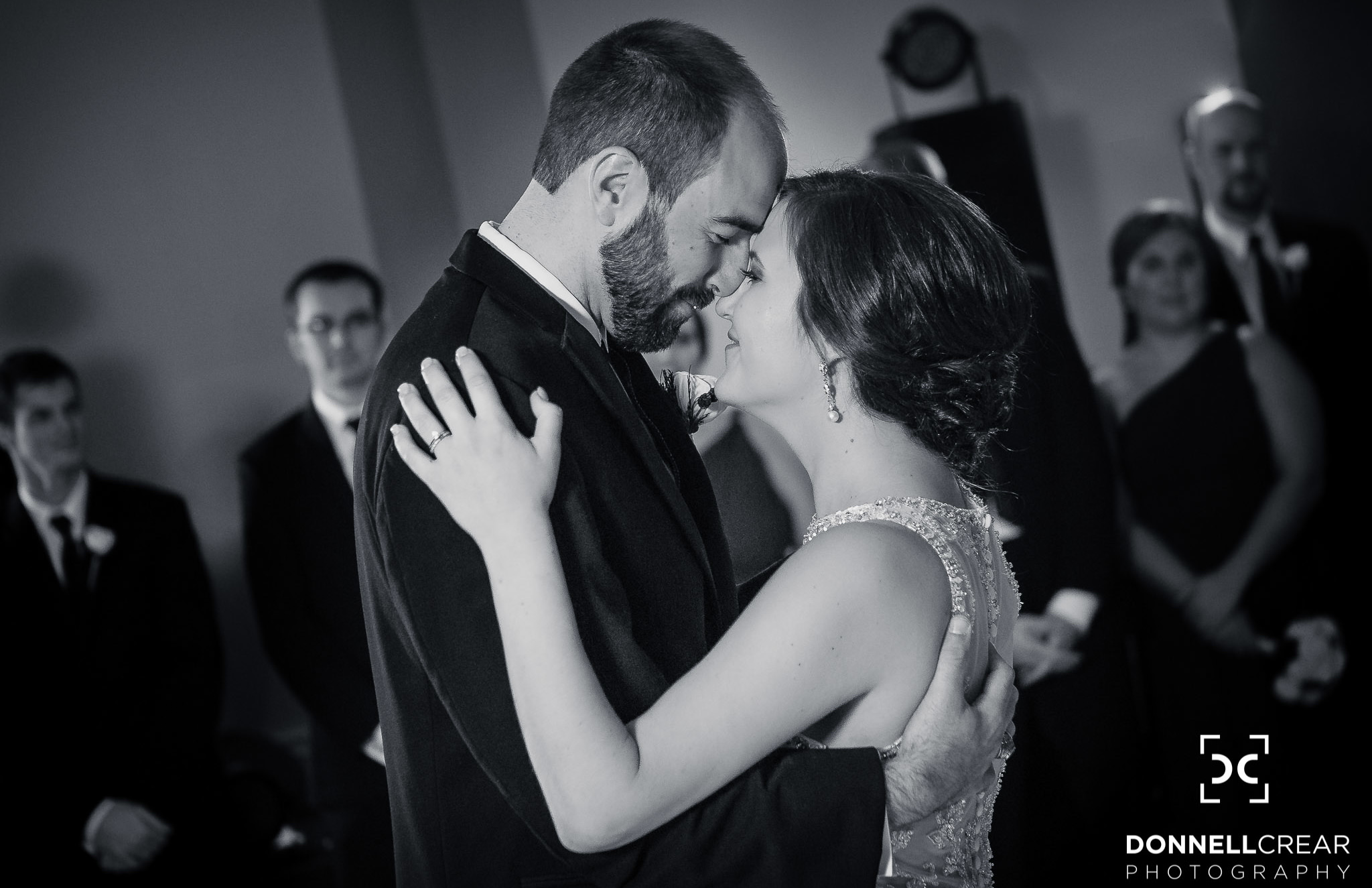 Couple sharing their first dance during their Commerce Club wedding