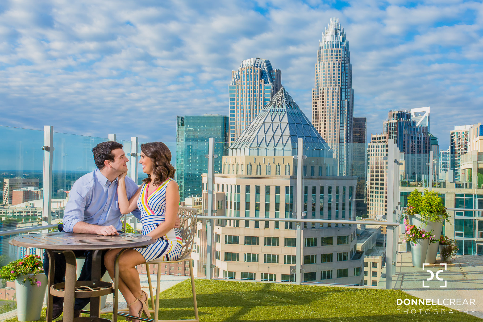 Uptown Charlotte Engagement Session | Amanda + Devon