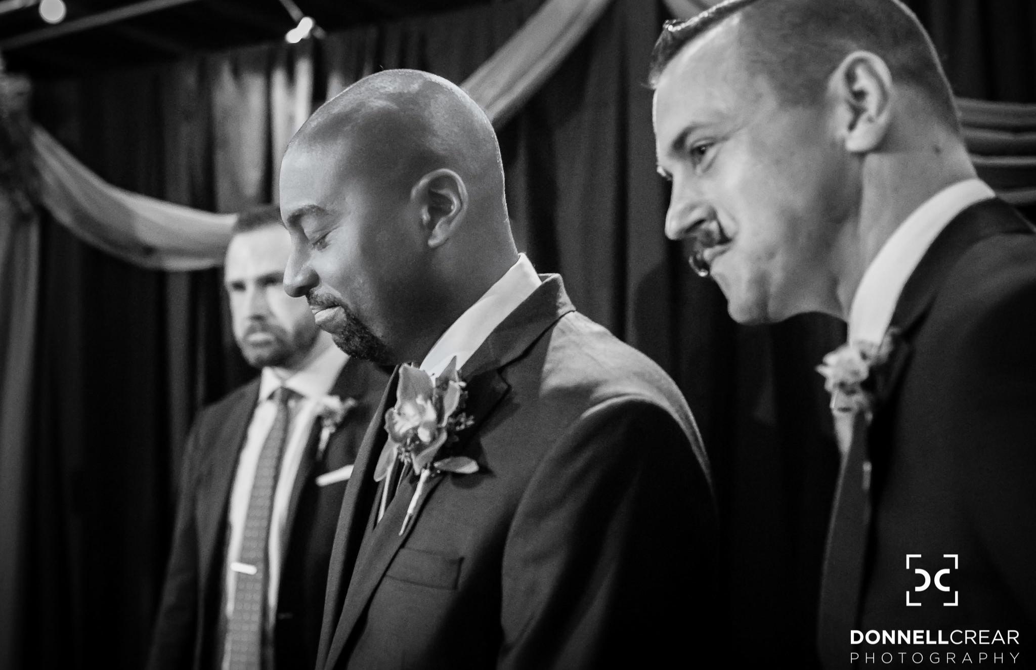 Wedding ceremony at a twisted laurel wedding